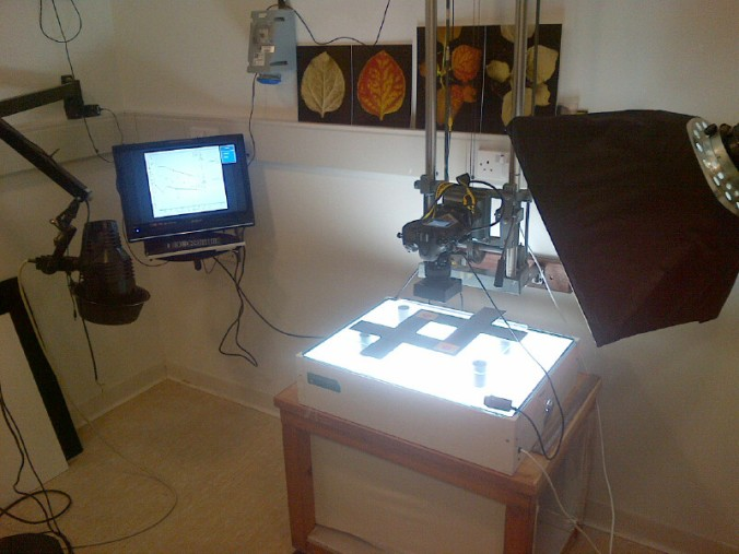 The Photography Studio at the John Innes. That's a might expensive camera right there.